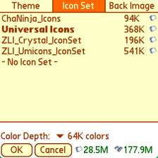 Icon Set tab